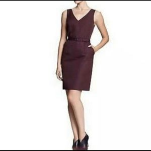 Banana Republic Purple Charlotte Belt Sheath Dress
